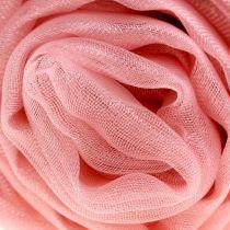 Koristeellinen kangas organza vanha vaaleanpunainen 150cm x 300cm