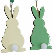 Pääsiäispupu roikkuu, kevätkoriste, riipus, Deco Bunny vihreä, valkoinen 3kpl