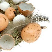 Pääsiäisseppele munilla Ø24cm luonnonvalkoinen