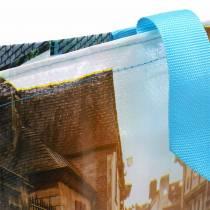 Brittany-muovinen 45 × 14 × 30cm -ostoskassilla varustettu kahvilaukku