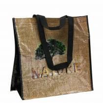Luonto-muovinen 40 × 20 × 40cm -kahvapussi