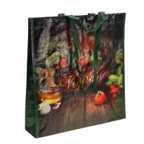 Ostoskassi kahvoilla Vihannesmuovi 38 × 10 × 39cm