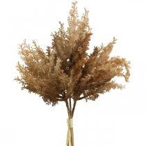 Keinotekoinen Pampas Grass ruskea kuiva Deco koriste ruoho 35cm 4kpl 4kpl