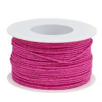 Paperi johto kääritty Ø2mm 100m vaaleanpunainen