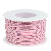 Paperinarua vaijeri kääritty Ø2mm 100m vaaleanpunainen