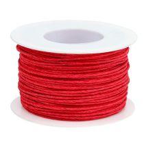 Paperijohto kääritty langaan Ø2mm 100m punainen