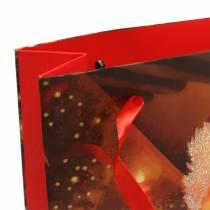 Lahjapussi Joulupukki Joulupunainen 20cm × 30cm × 8cm