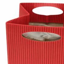 Paperipussi kukkaruukku Planter punainen 12cm 12kpl