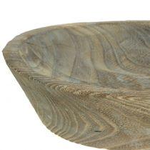 Koristeellinen kulho Paulownia puu soikea 44cm x 19cm K8cm
