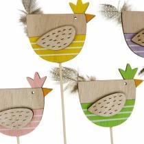 Kasvi Plug kana värikäs koristelu Plug puu kana pääsiäinen koristelu 14kpl