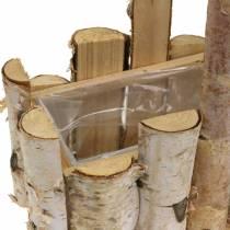 Koivun oksien istutuskori kahvalla 24x14,5cm K25,5cm