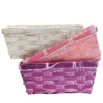 Spank Basket Square violetti/valkoinen/vaaleanpunainen 8kpl