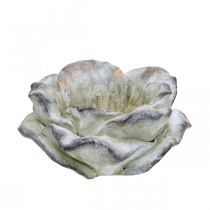 Ruusun kukka istutukseen, hautajaiskukkakauppa, kiviruusu, betonikoriste Harmaa, Aprikoosi, Violetti Ø11cm L22cm K9cm L22cm K9cm