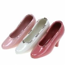 Planter naisten kenkäkeramiikkavoide, vaaleanpunainen, vaaleanpunainen valikoima 20 × 6cm K12cm 3kpl