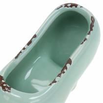 Planter naisten kenkä keraaminen turkoosi, vihreä, siniharmaa valikoima 14 × 5cm K7cm 6kpl