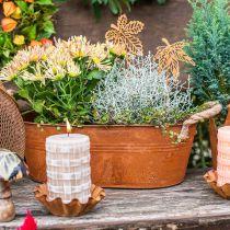 Kasviruukku kahvoilla, yrttikulho, syksyn koriste, ruostumatonta terästä L28cm H11cm