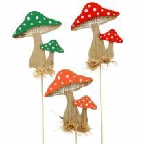 Koristeellinen tulppasieni sieni valikoima H28cm 12kpl