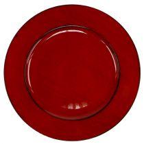 Muovilevy Ø33cm punainen-musta