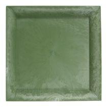 Muovilevy vihreä neliö 19,5 cm x 19,5 cm