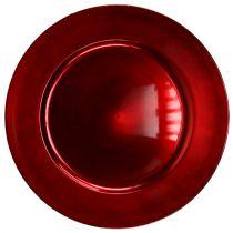 Muovilevy punainen Ø17cm 10 kpl