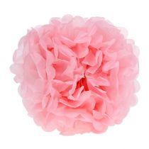 Pompomipaperi Ø30cm vaaleanpunainen 5kpl