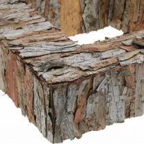 Deco Tree Bark neliö avoin männynkuori syksyn koriste 30×30cm