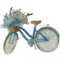 Koristekyltti puu polkupyörä kesä koriste merkki ripustaa sininen, valkoinen 31×25cm