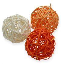 Rottinkipallot 4,5cm oranssi aprikoosi 30kpl