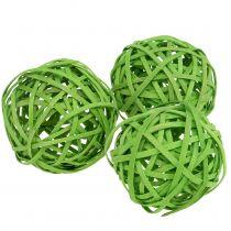 Rottinki pallo vaaleanvihreä Ø6cm 6kpl