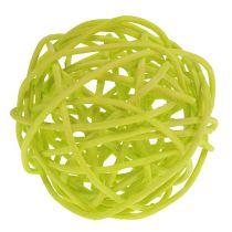 Rottinkipalloseos Ø5cm vaaleanvihreä vaaleanvihreä valkaistu 30kpl.