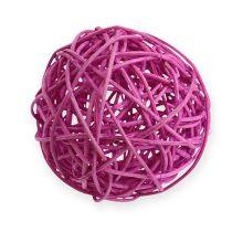 Rottinki pallo 10cm violetti 10kpl