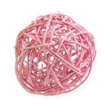 Rottinki pallo Ø10cm vaaleanpunainen 10kpl