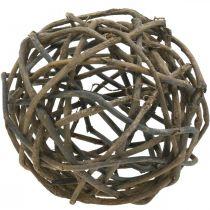 Deco Ball Vine Wood Luonnollinen Tumma Ø25cm