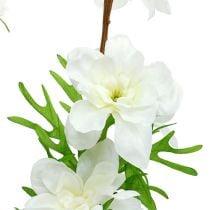 Delphinium keinotekoinen valkoinen 95cm
