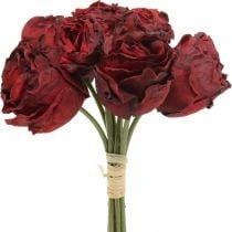 Keinotekoisia ruusuja punainen, silkkikukkia, Rose Bundle L23cm 8kpl 8kpl