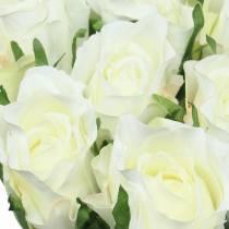 Ruusunvalkoinen 42cm 12kpl