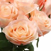 Keinotekoinen ruusukimppu aprikoosi 8kpl