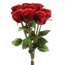 Ruusu kimppu keinotekoinen punainen 36cm 8kpl