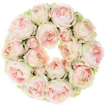 Rosary crème / vaaleanpunainen Ø30cm