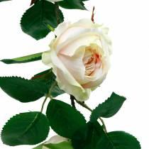 Romanttinen ruusu seppele, silkkikukka, keinotekoinen ruusu-jänne 160cm