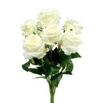 Ruusukimppu valkoinen, kerma 55cm