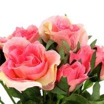 Ruusukimppu vaaleanpunaisella L26cm 3kpl
