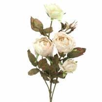 Keinotekoinen ruusuhaaran kerma valkoinen 76cm
