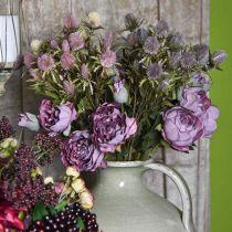 Ruusun oksa, silkkikukka, pöydän koristelu, keinotekoinen ruusu violetti antiikki näyttää L53cm
