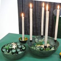 Deco kulho metallia vihreä pöydän koriste Vintage Ø21cm
