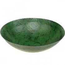 Deco kulho suuri metalli vihreä vintage pöydän koriste Ø42cm