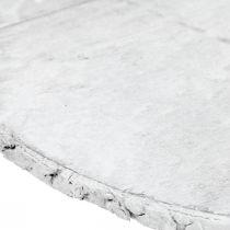 Deco puinen kiekko kuorella Valkoinen vaneri Ø20cm
