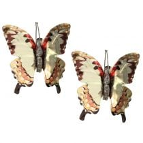 Butterfly kulta kiiltävä kiinnikkeellä 12kpl