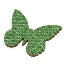Ripottele koristeltu perhosvihreä kimallus 5/4 / 3cm 24kpl