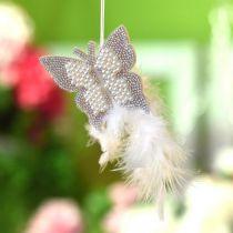 Huopa Perhonen roikkuu Cream häät koristelu 16cm